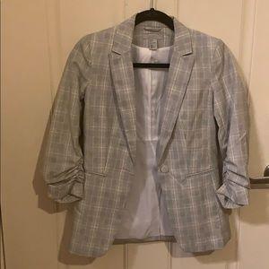 Office Grey Plaid Blazer by H&M